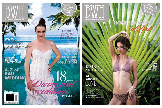 LONA featured on Bali Wedding Magazine - Front & Back Cover - Lona Bali Makeup