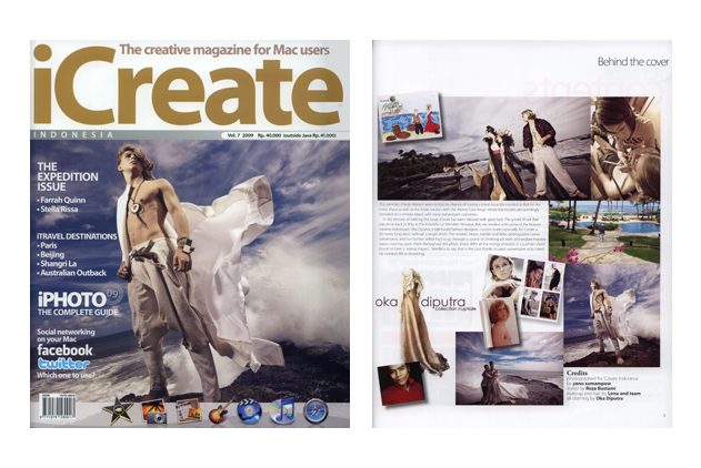 LONA featured on iCreate Magazine - Lona Bali Makeup